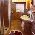 Bagno spazioso del Bed and Breakfast